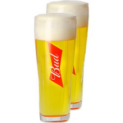 Bierglazen - Budweiser Bud - 2x33cl Glazen