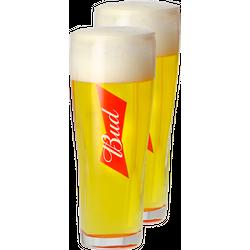 Ölglas - Pack 2 Verres Bud - 33 cl