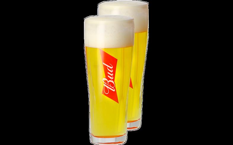 Verres à bière - Pack 2 Verres Bud - 33 cl