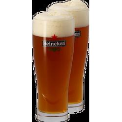 Biergläser - Pack 2x 50cl Heineken Gläser