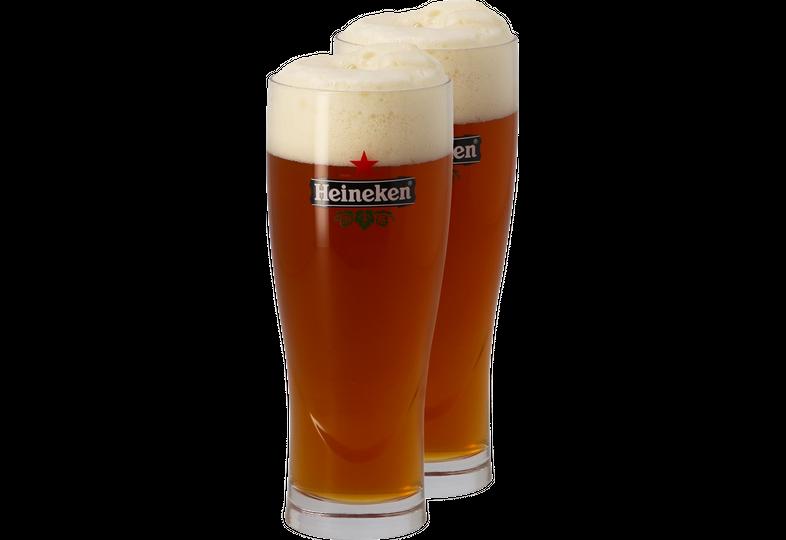 Verres à bière - Pack 2 verres Heineken Ellipse - 50 cl