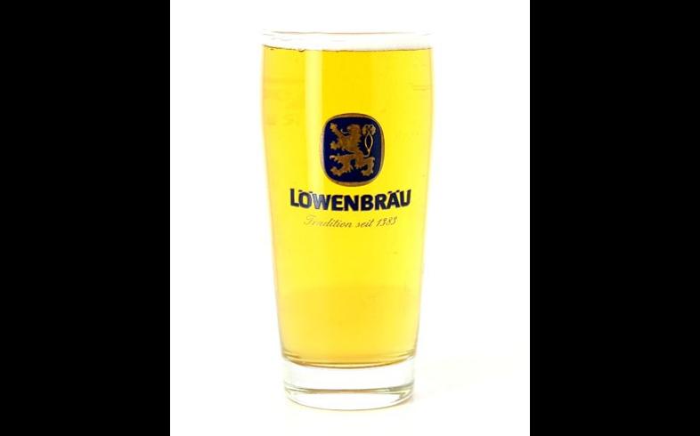 Beer glasses - glass Löwenbräu