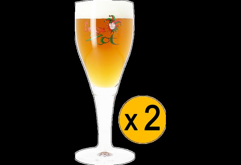 Ölglas - 2 Brugse Zot 33cl glasses