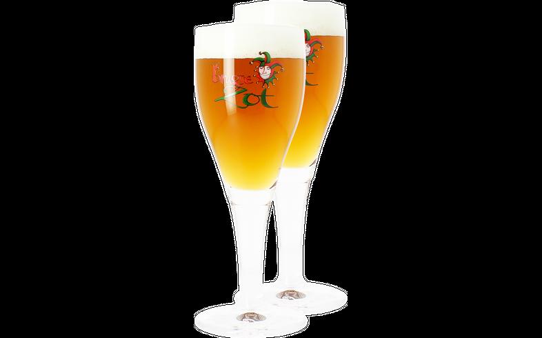 Beer glasses - 2 Brugse Zot 33cl glasses