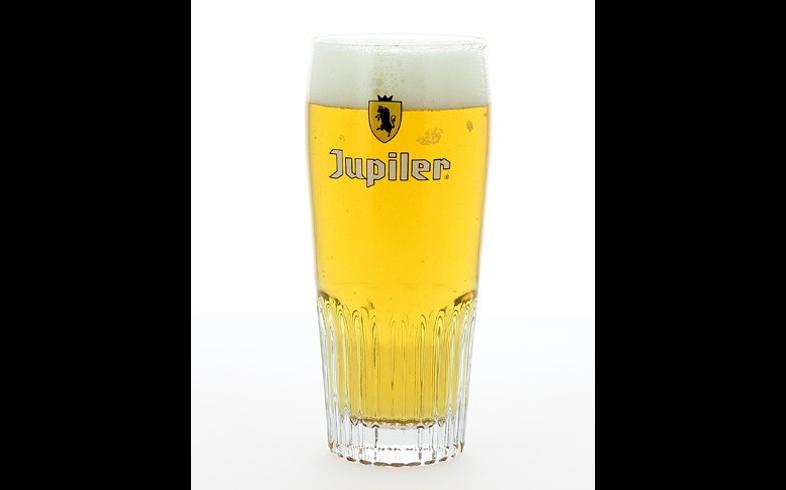 Verres à bière - Verre Jupiler strié - Nouveau jaune - 25 cl