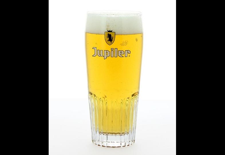 Biergläser - Glas Jupiler strié - Nouveau logo - 25 cl