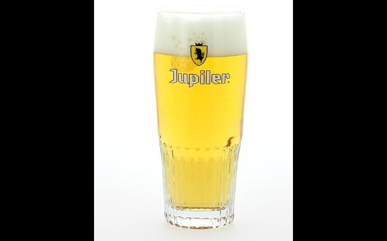 Verres à bière - Verre Jupiler strié - Nouveau jaune - 33 cl