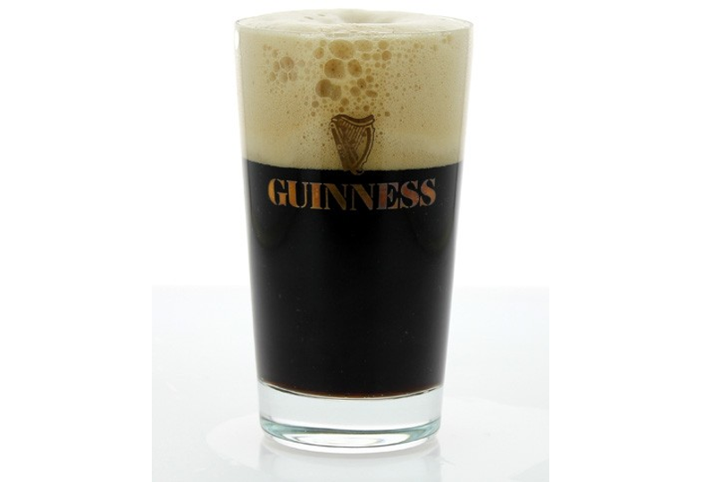 Ölglas - glass Guinness plat