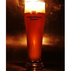 Beer glasses - glass Weltenburger haut à pied plat 50 cl