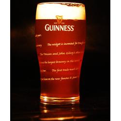Ölglas - glass Guinness plat 50cl - Édition 250 ans