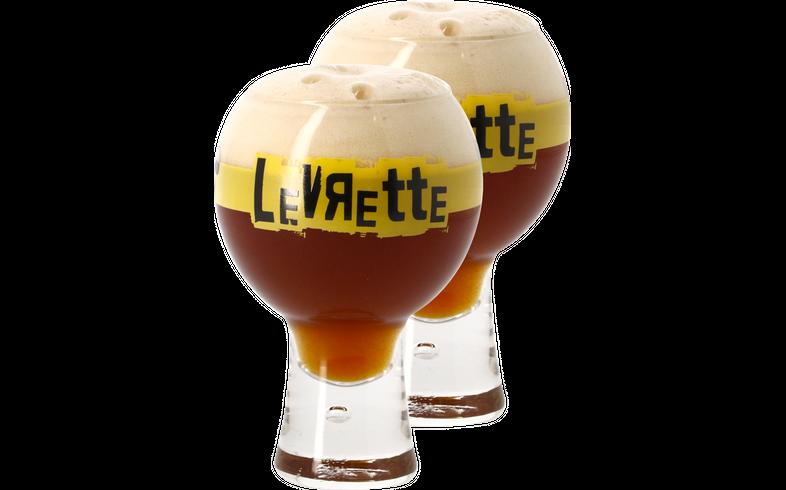 Verres à bière - Pack 2 Verres Levrette - 30cl