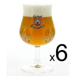 Lot de verre à bière - 6 verres Karmeliet - 25 cl