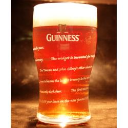 Ölglas - glass Guinness plat 25cl - Édition 250 ans