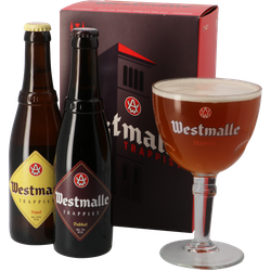 Gift box with beer and glass - Westmalle Gift Pack (2 beers + 1 glass)