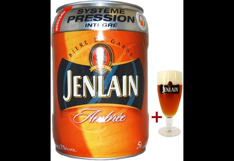 Fûts de bière - Fût 5L Jenlain + verre