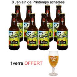 Bouteilles - Lot 8 bières Jenlain Printemps + verre