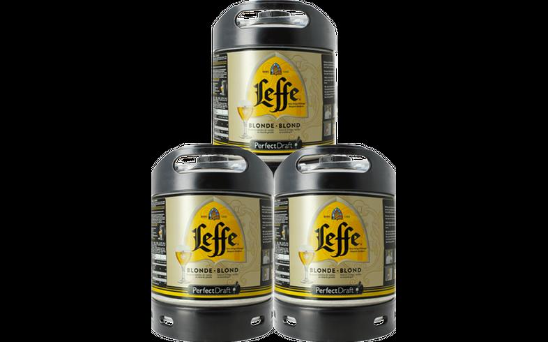Fûts de bière - Pack 3 fûts 6L Leffe Blonde