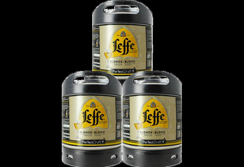 Fatöl - Leffe Blonde 6L PerfectDraft Fat 3-Pack