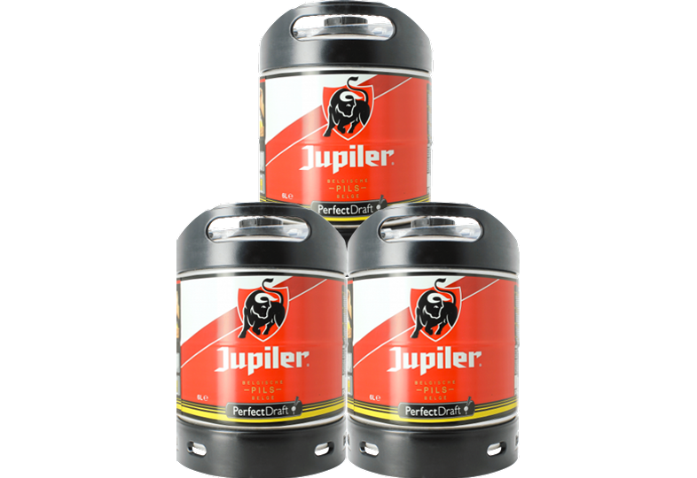 Fässer - Jupiler Pils PerfectDraft 3-pack Fässer 6 liter - Mehrweg