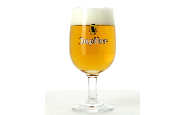 Verres à bière - Verre jupiler à pied - logo jaune - 25 cl