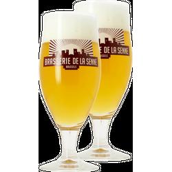 Beer glasses - Pack 2 Verres Brasserie de la Senne - 33 cl