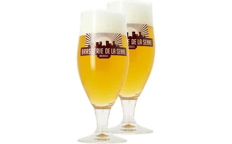 Beer glasses - Pack 2 Verres Brasserie de la Senne - 33 cl