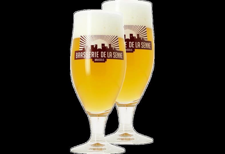 Bicchieri - 2 Bicchieri Brasserie De La Senne - 33cl