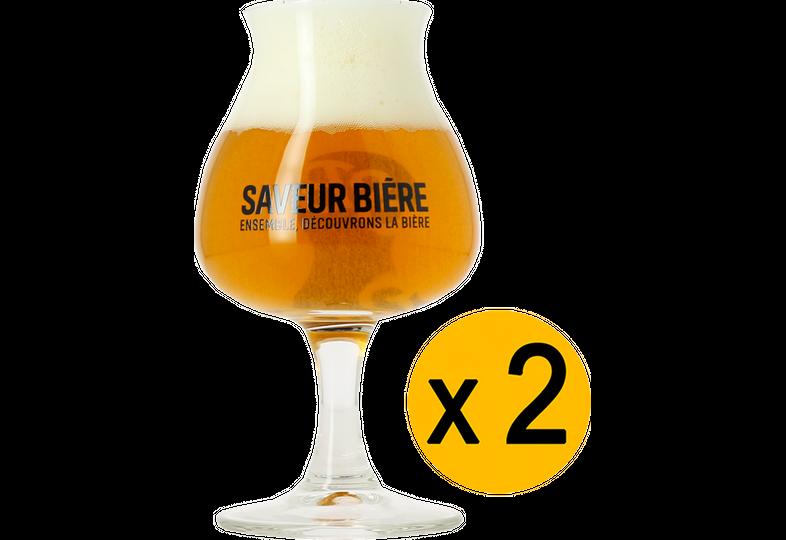 Beer glasses - 2 Saveur Bière balloon glasses - 15 cl