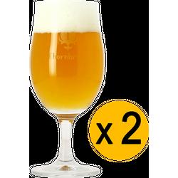 Beer glasses - 2 Thornbridge Brewery beer glasses tulip - 25 cl