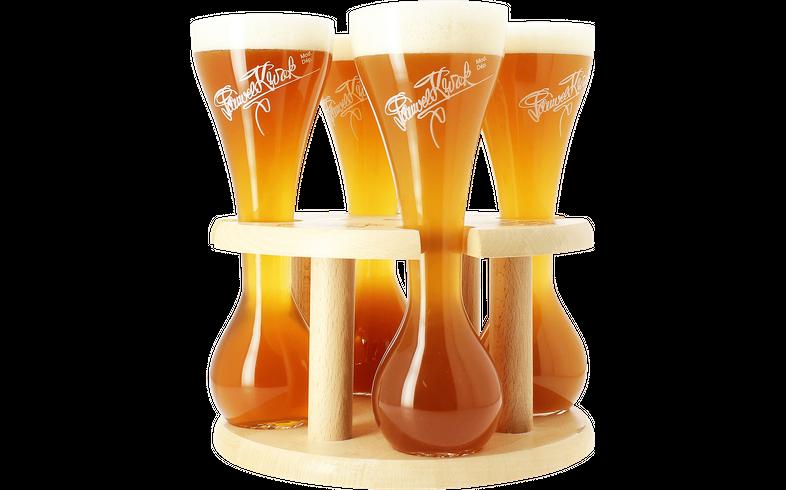 Biergläser - 4 verres Kwak avec support