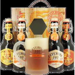 Coffrets cadeaux verre et bière - Coffret Lefebvre 140 ans (4 bières, 1 verre)
