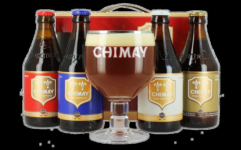 Gåvoboxar med öl och glas - Coffret Chimay Quadrilogie