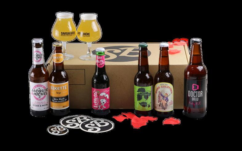 Idées Saint Valentin -  Coffret Les Dessous de la Bière