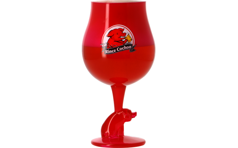 Beer glasses - Rince Cochon Rouge - 50cl glass