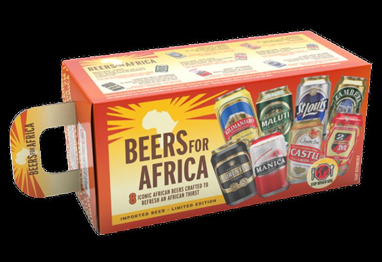 Gåvoboxar med öl och glas - Gift Pack Beers For Africa