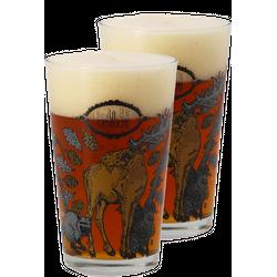 Verres à bière - Pack 2 Verres La Débauche