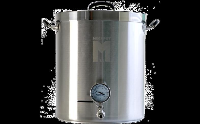 Accessoires du brasseur - Cuve de brassage MegaPot 10 Gal (37,8L) avec robinet et thermomètre