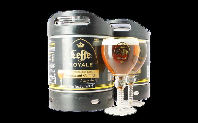 Fûts de bière - Pack 2 Fûts 6L Leffe Royale avec 2 verres