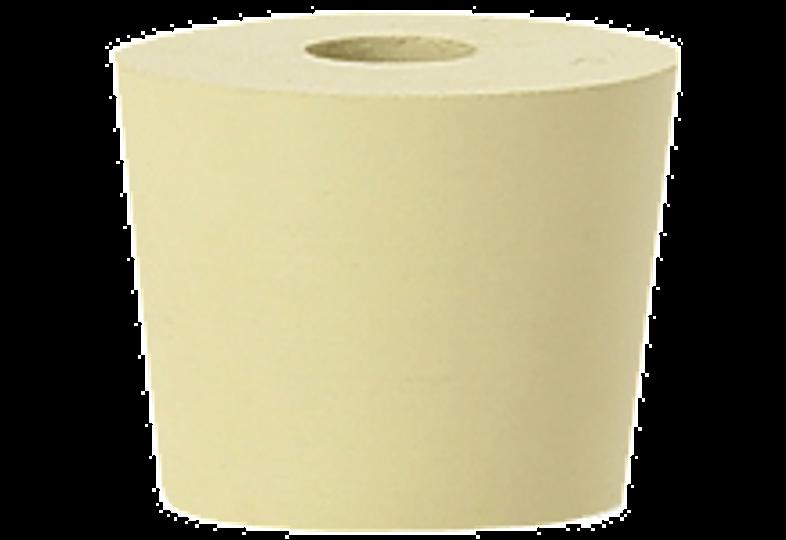 Dames-Jeannes - Bouchon n°6 en caoutchouc percé diamètre interne 26 mm - externe 32 mm