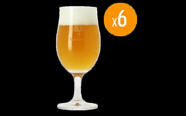 Beer glasses - Pack de 6 Verres Tulipes Thornbridge - 25 cl