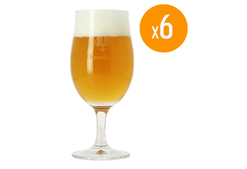 Beer glasses - Pack de 6 Verres Tulipes Thornbridge - 25 cl
