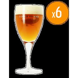 Verres à bière - Pack de 6 Verres Goose Island Brewing - 33 cl