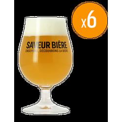Verres à bière - Pack de 6 Verres Saveur Bière - 25 cl