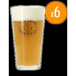 Verres à bière - Pack de 6 Verres Anchor Brewing - 25 cl