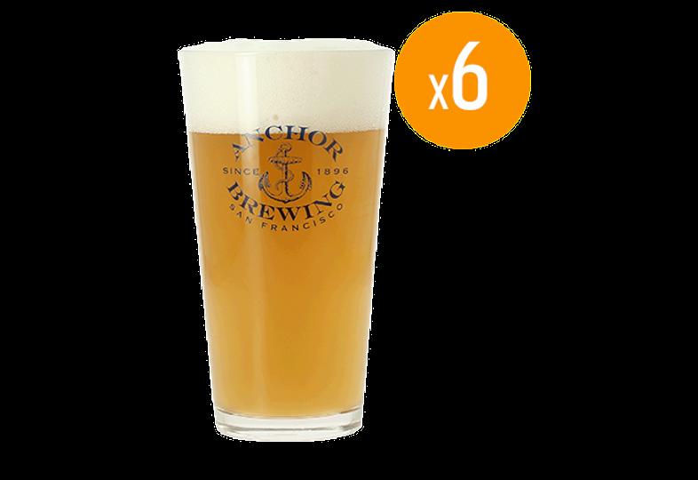 Bicchieri - Pack de 6 bicchieri Anchor Brewing - 25 cl