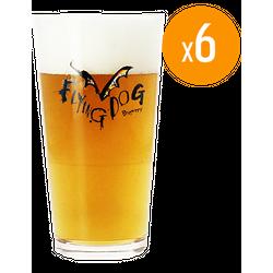 Verres à bière - Pack de 6 Verres Flying Dog - 25 cl