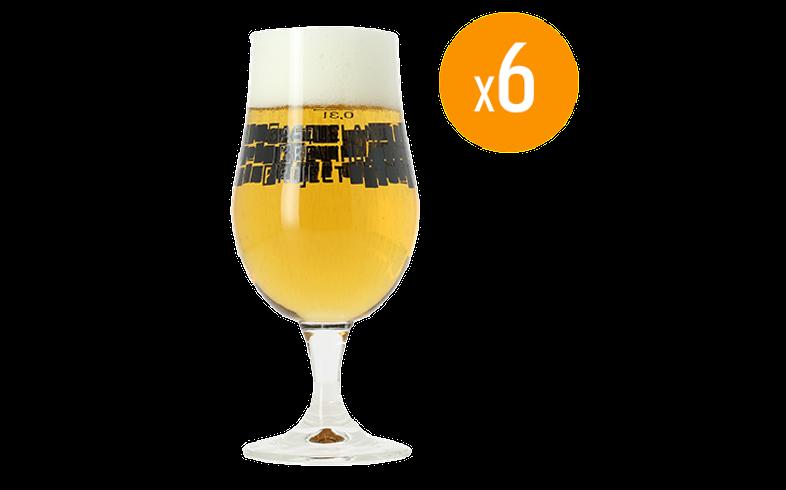 Bicchieri - Pack di 6 Bicchieri Basqueland Brewing - 33cl