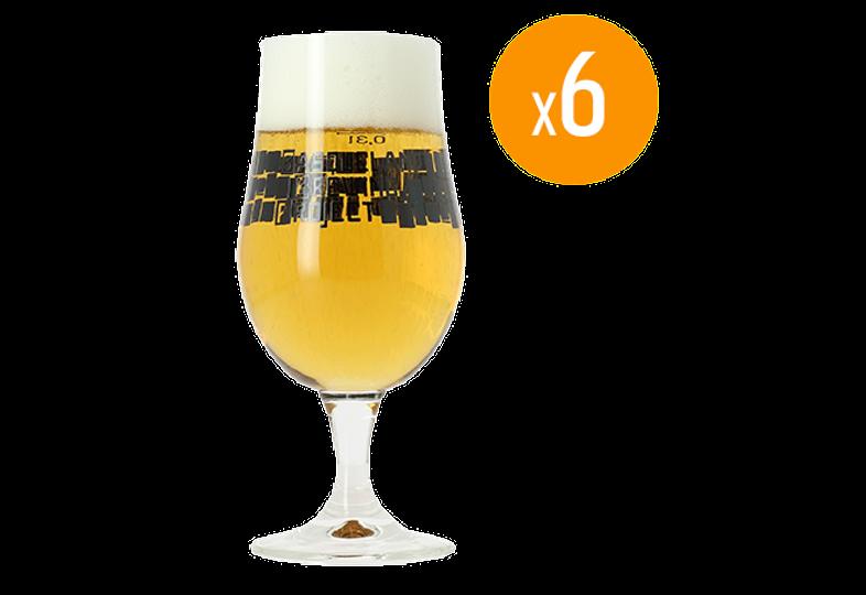 Verres à bière - Pack de 6 verres Munique Basqueland Brewing - 33 cl