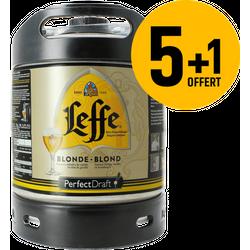 Fûts de bière - Pack 5 fûts 6L de Leffe blonde + 1 Offert