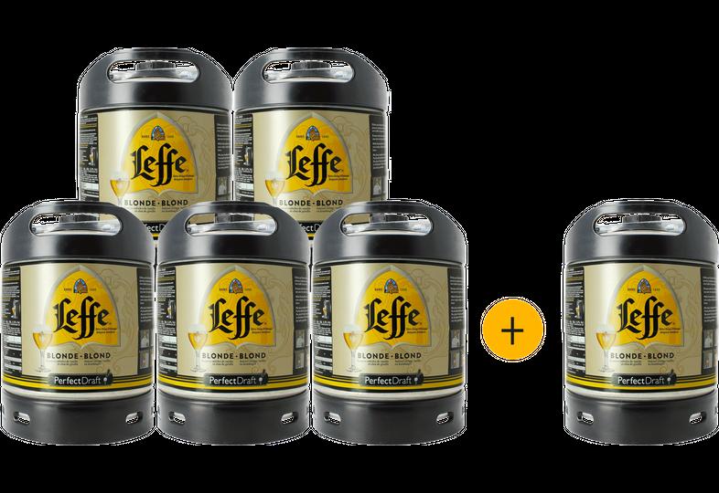 Kegs - Leffe Blonde PerfectDraft 6-litre Keg - 5+1 FREE!